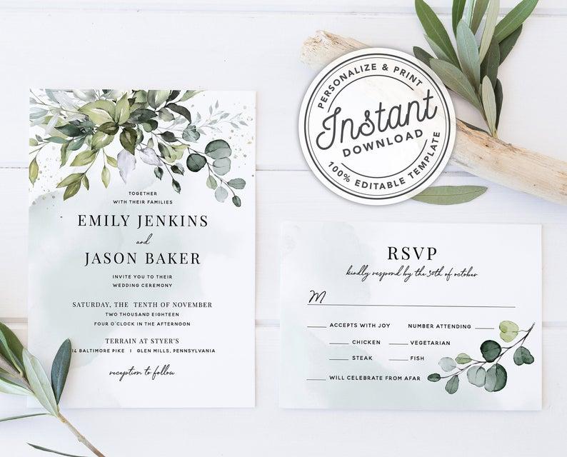 boho bridal invites