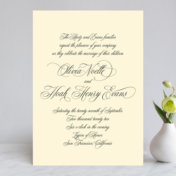 mellow yellow invitation sample