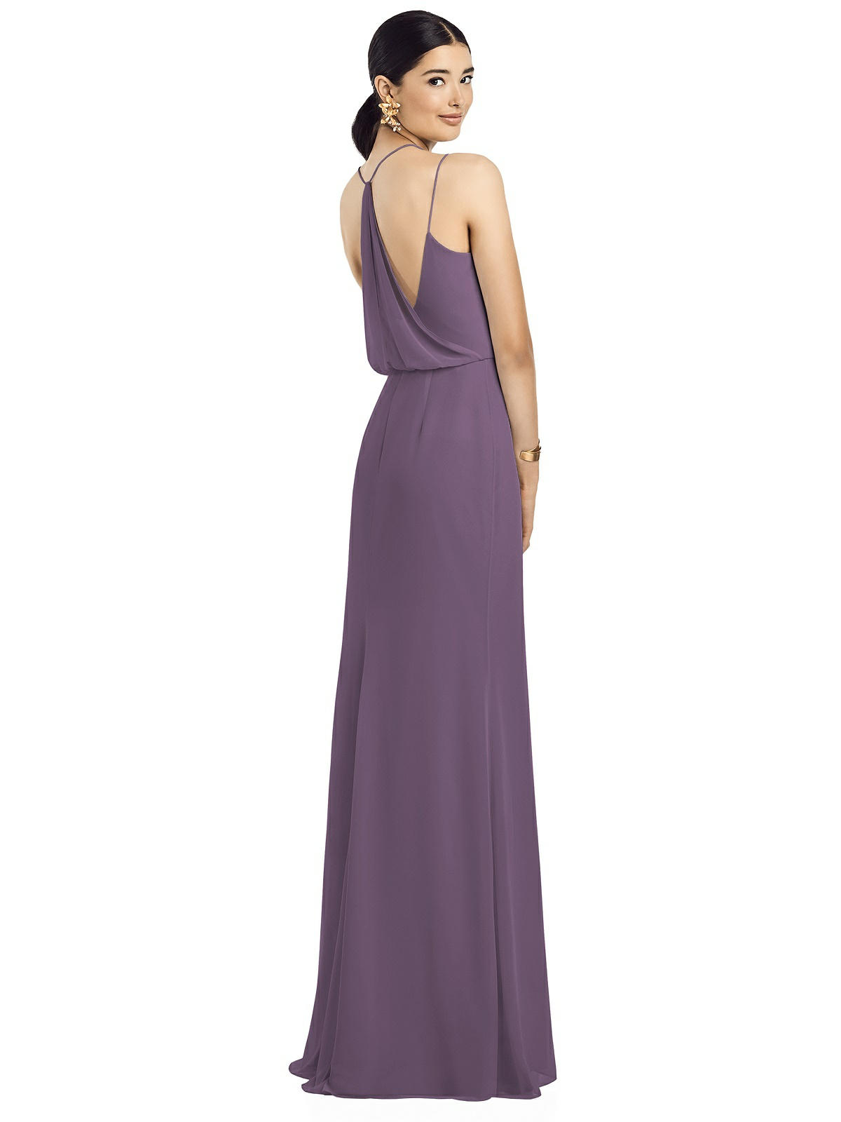 cassis color bridesmaid dress