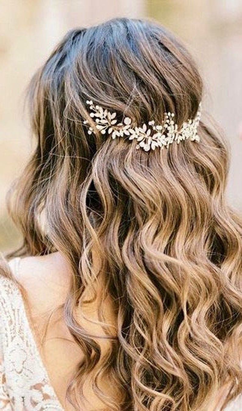 flowery hair comb