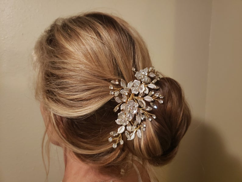 updo with hair comb