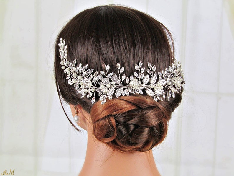 updo with large headpiece