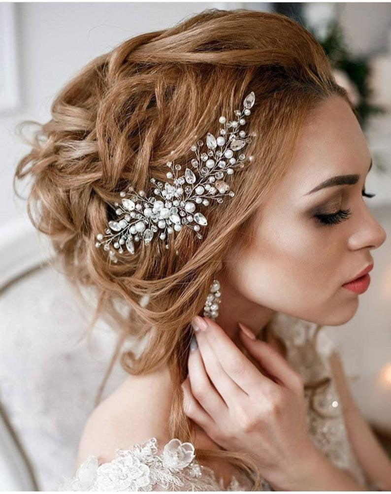 crystal side headband