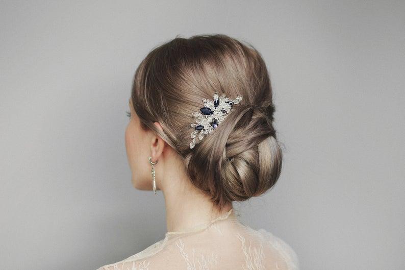 sapphire hair comb