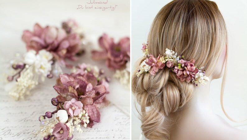 pink flower headpiece