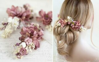 pink flower headpiece
