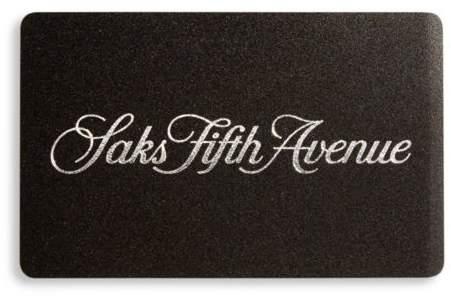 saks gift card