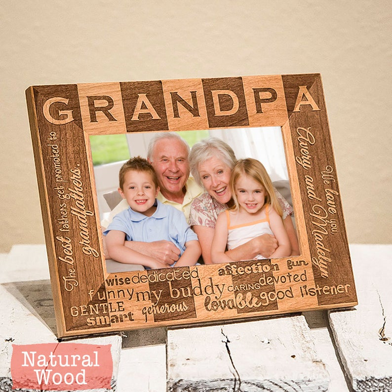 grandpa custom photo frame