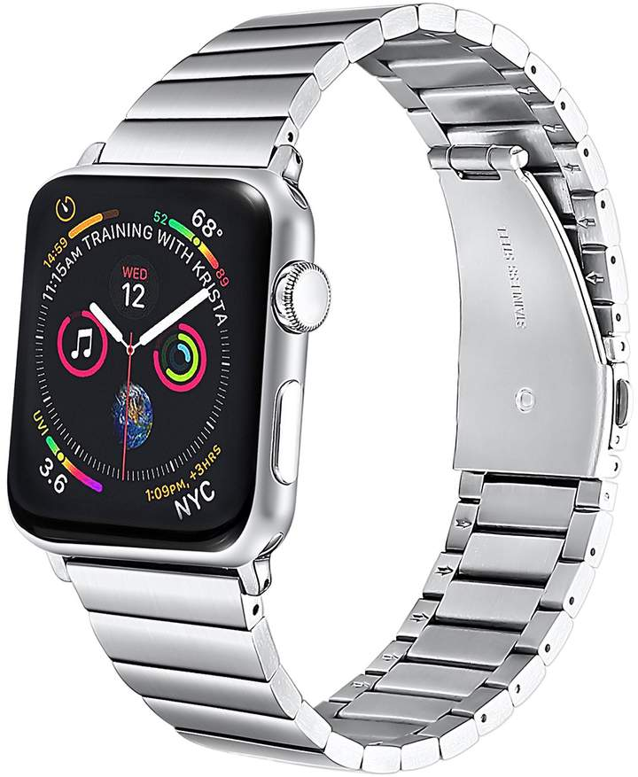 apple band watch in silver