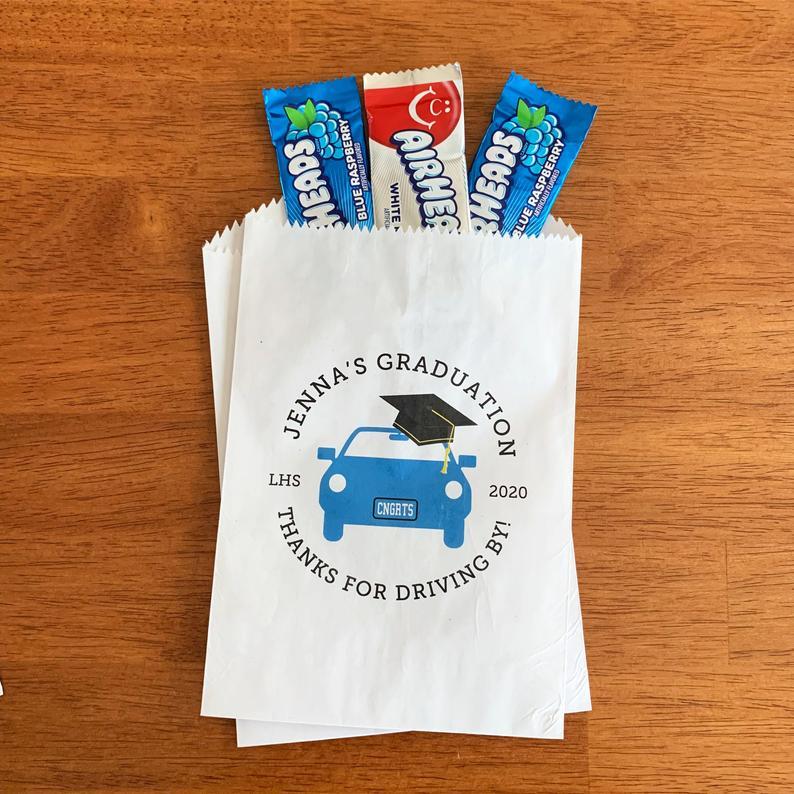 graduation favor bags