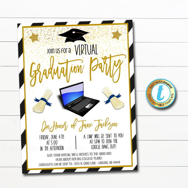 virtual graduation party invites