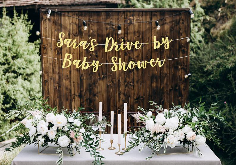 drive by baby shower banner