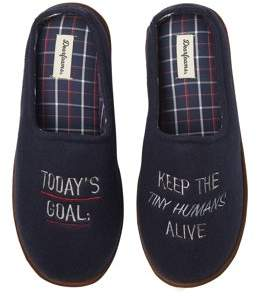 slippers with writing on them