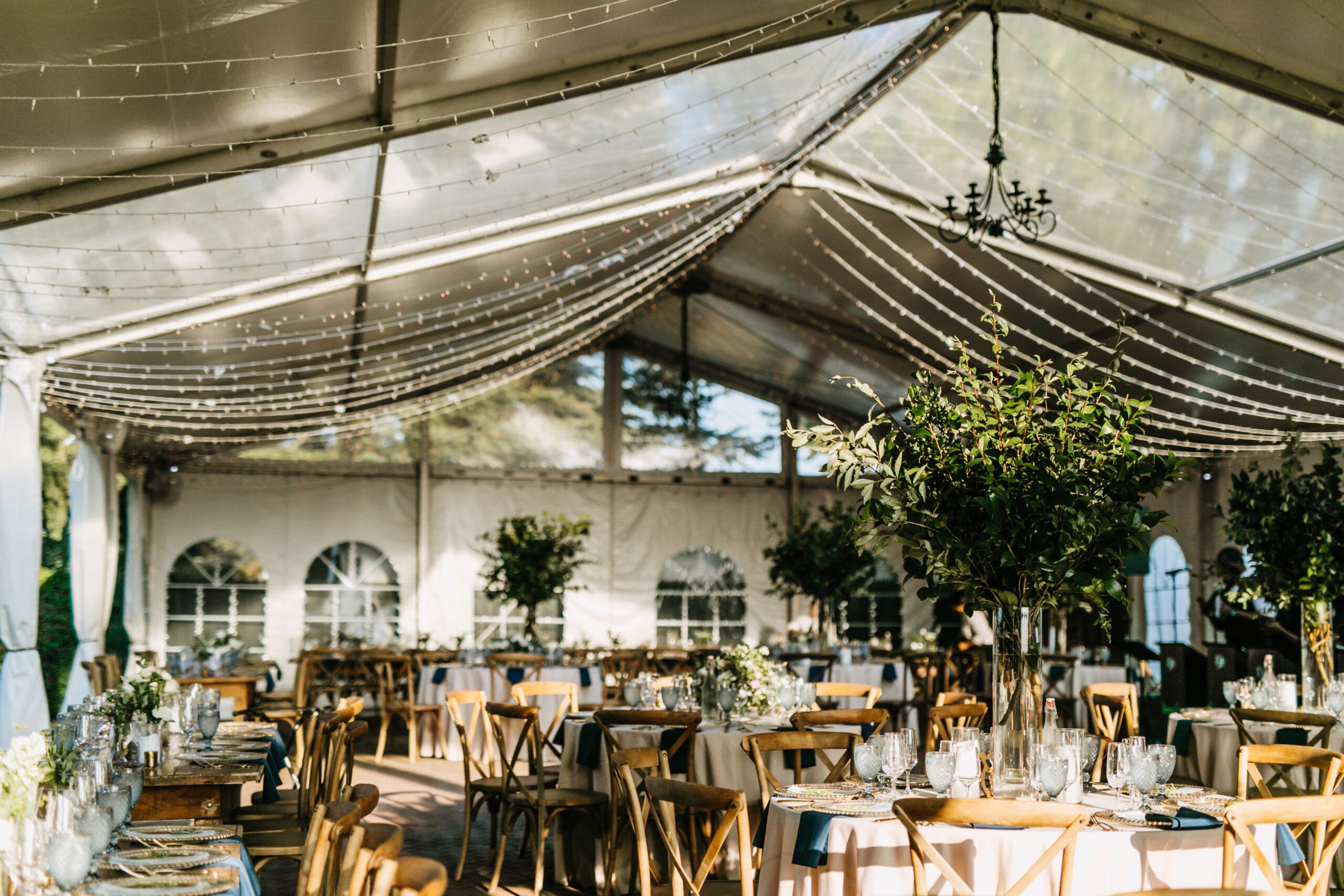 outdoor wedding clear top tent