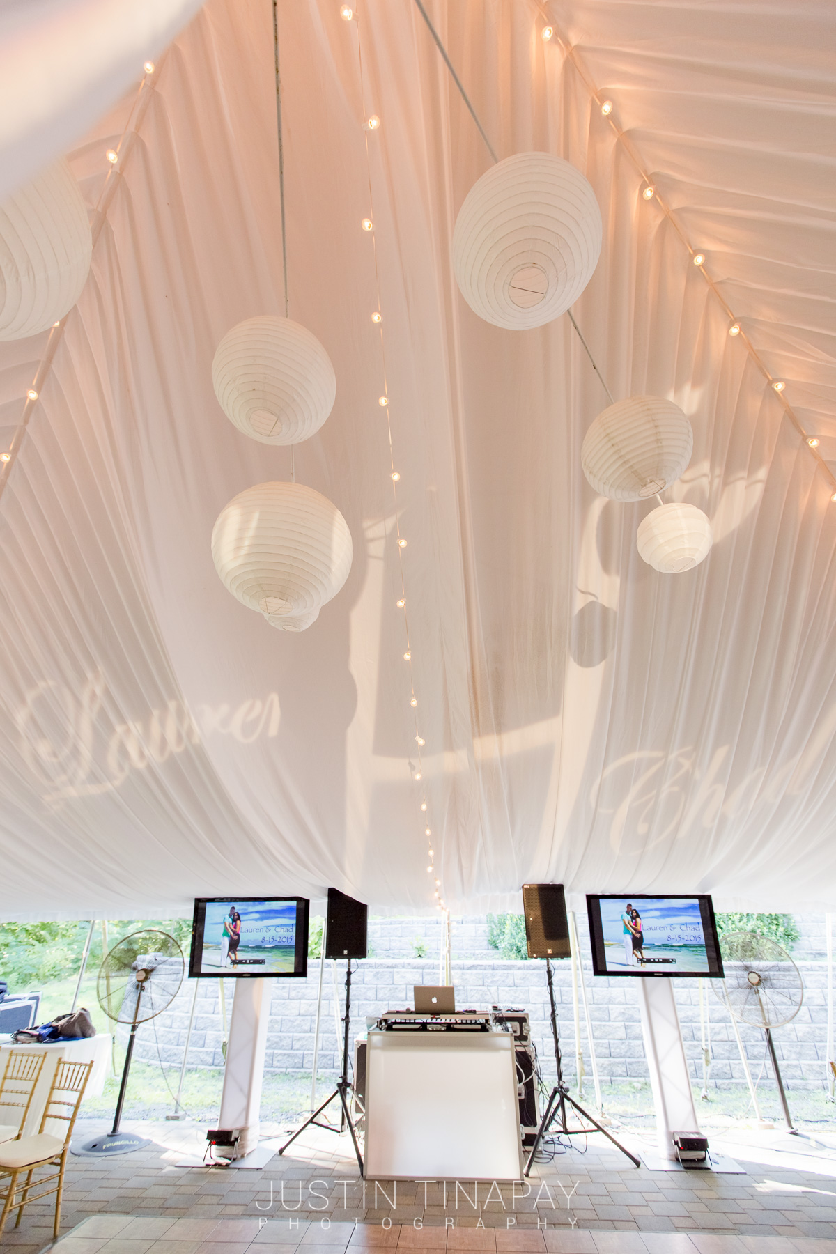 white tent for wedding