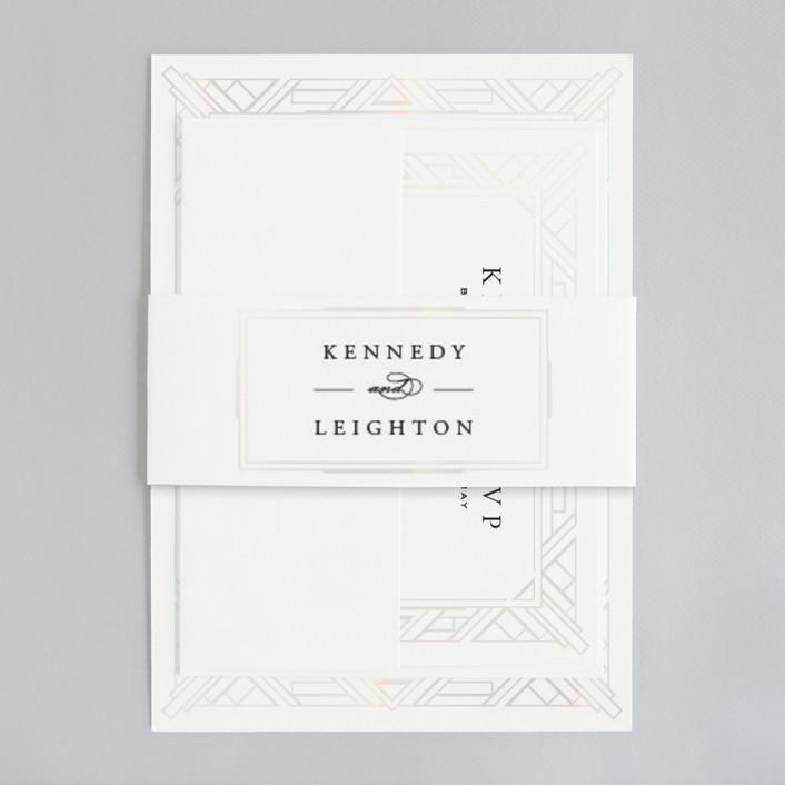 all white invitation