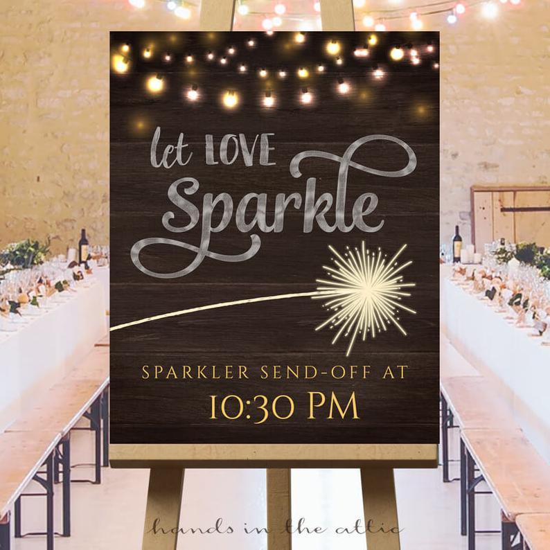 sparkler sign