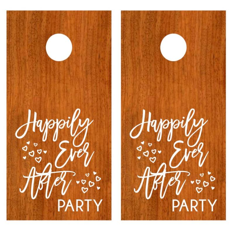 personalized corn hole for weddings