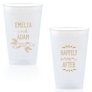 personalized white cups