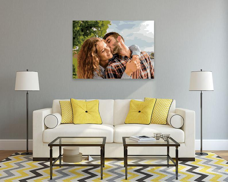 custom portrait painting couple