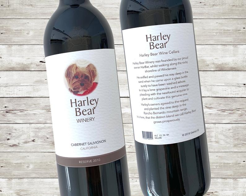 custom wine labels funny
