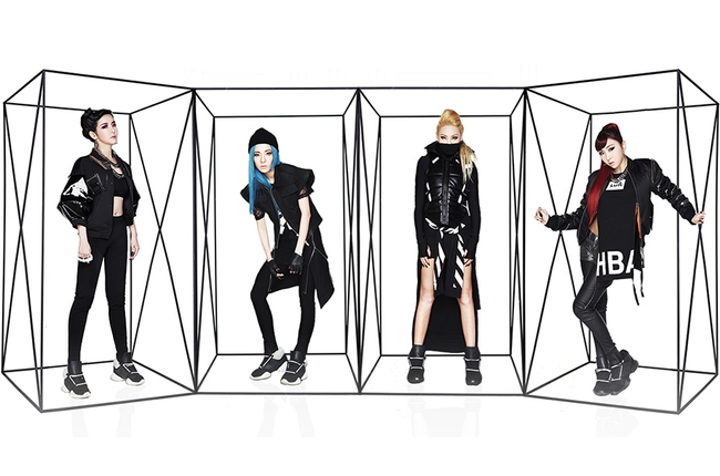2ne1 wearing hood by air
