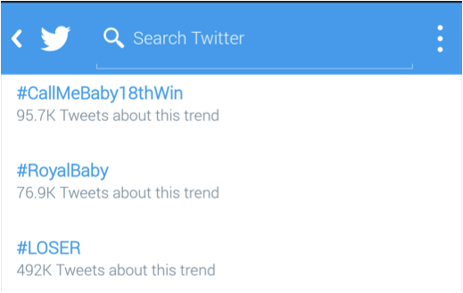Call Me Baby Loser trends
