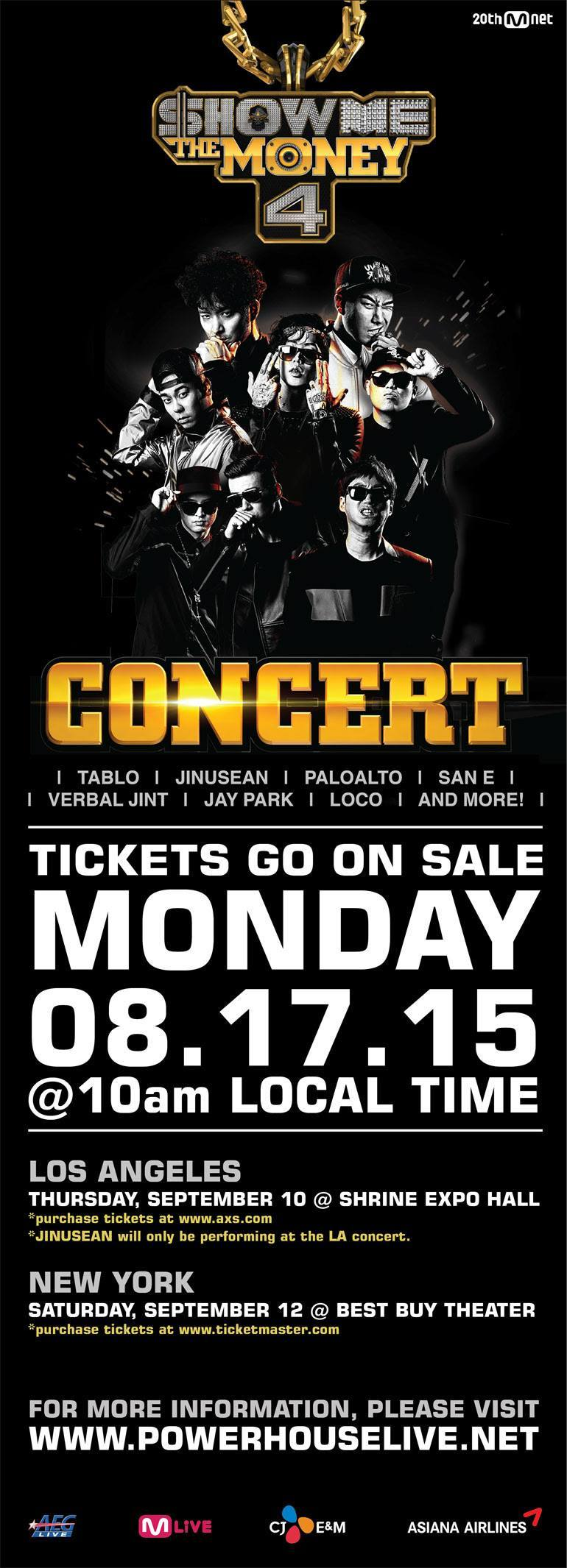 show me the money concert los angeles new york la ny nyc smtm4 smtm