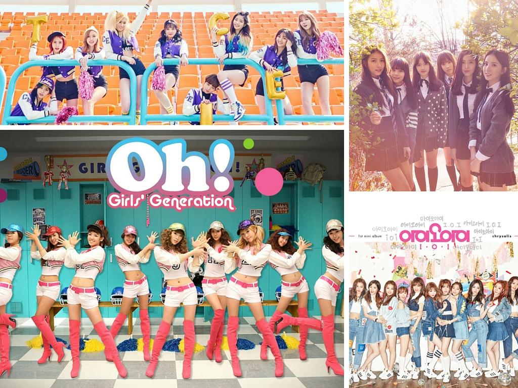 Girls' Generation, GFRIEND, Twice, IOI