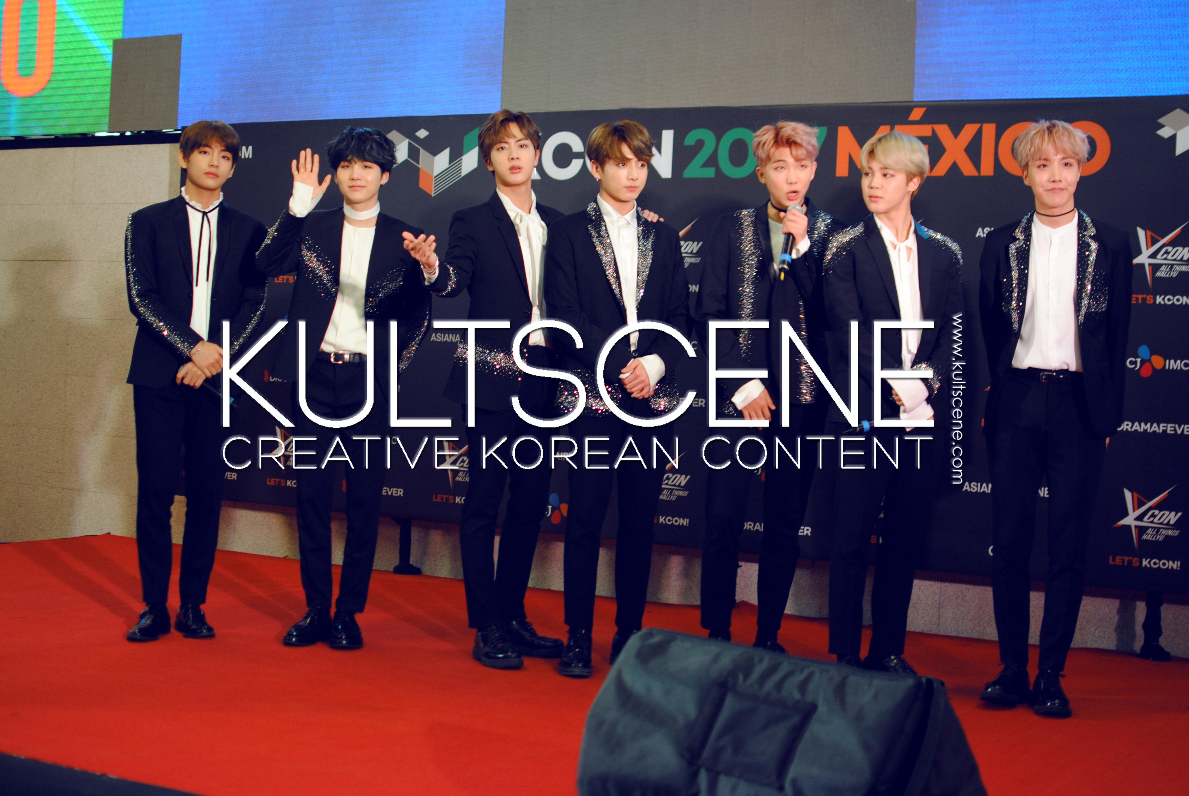 kcon mexico 2017 bts v suga yoongi taehyun jin seokjin jungkook rap monster namjoon jimin jhope j hope red carpet kpop 17 mx