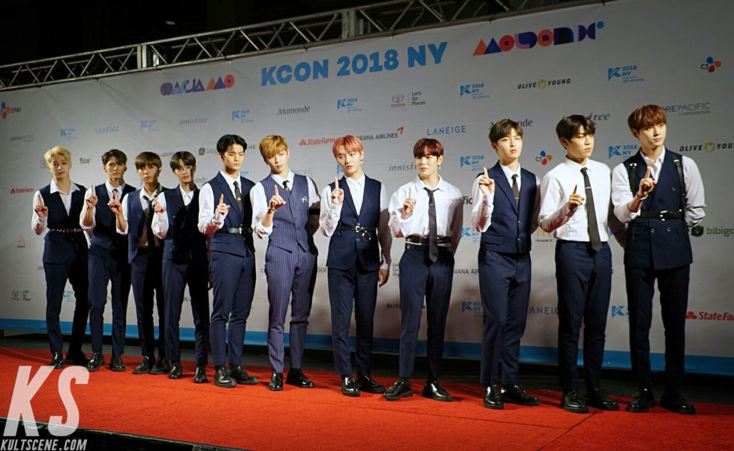 Wanna One at KCON 2018 NY