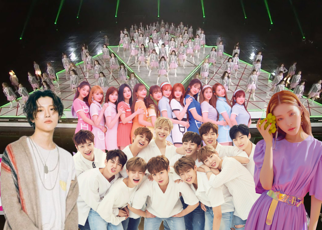produce 101 wanna one izone ioi x1
