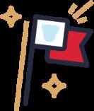 Icon: Lead - Leadership flag