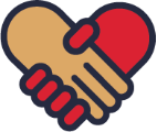 Icon: Hands holding to form heart