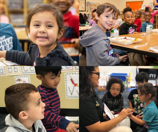 Photo: Montage or preschool students