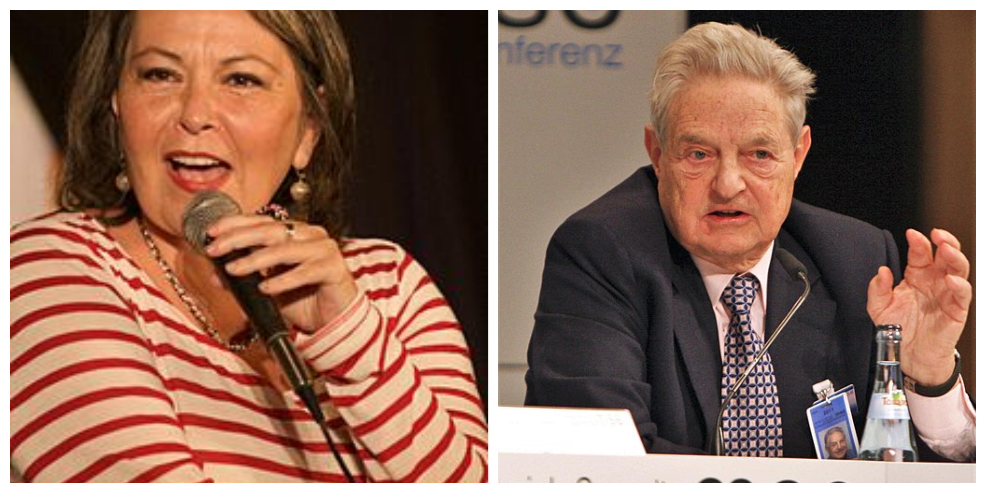 Roseanne Barr, George Soros (Harald Dettenborn [CC BY 3.0 de (https://creativecommons.org/licenses/by/3.0/de/deed.en)], via Wikimedia Commons)