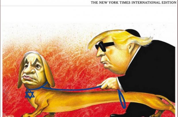 NYT-International-antisemitic-cartoon-featuring-Trump-and-Netanyahu-620x409