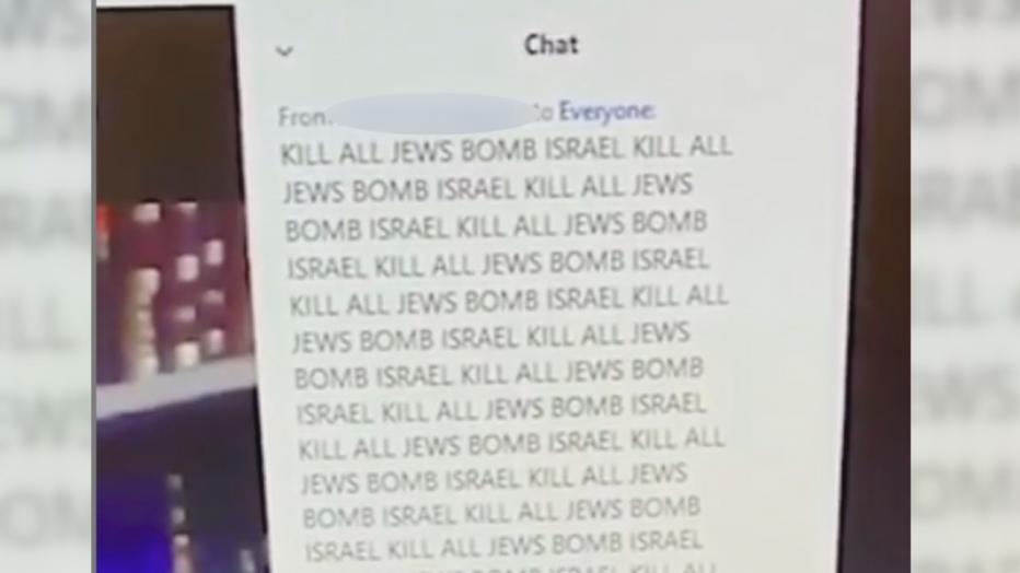 Antisemitic Zoom Bombing Screenshot Dallas Tisha B'av 2020