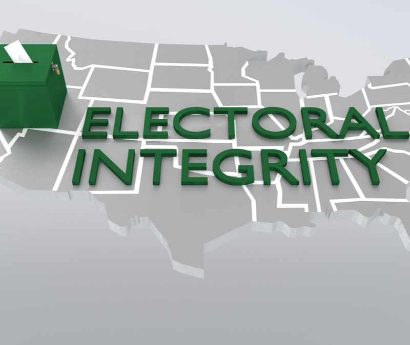 Map with caption: electoral integrity