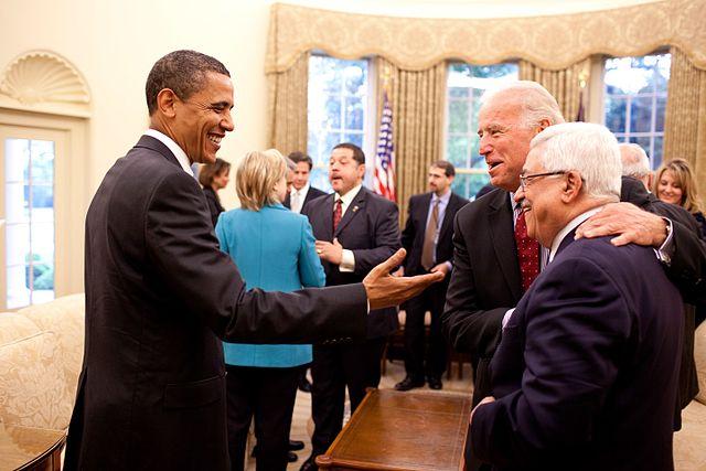 Obama Biden Abbas at White House