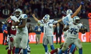Prater celebra o FG da vitória dos Lions