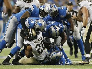 Defesa de Detroit contra o jogo corrido é a melhor da NFL.