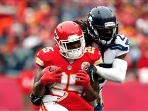 Jamaal Charles carregou os Chiefs contra os Seahawks