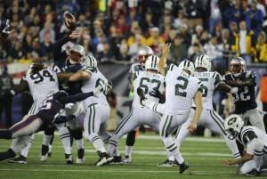 Nick Folk errou o FG que poderia garantir a vitória aos Jets