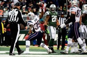Jonas Gray comemora seu touchdown