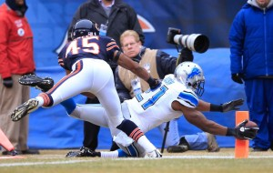 Bush se esforça para conseguir o touchdown