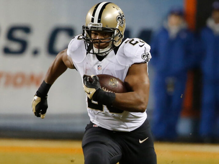 Mark Ingram correndo para o touchdown