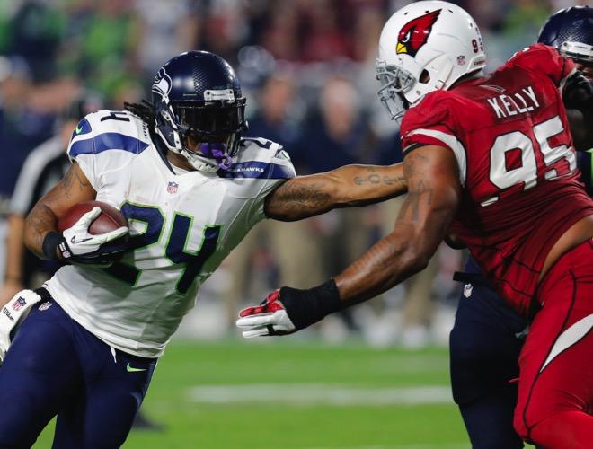 Lynch no magnífico TD de 79 jardas