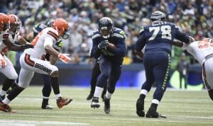 Derrick Coleman em ação pelos Seahawks
