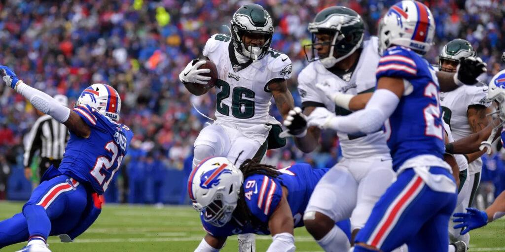 Eagles amassam os Bills pelo chão e vencem com autoridade em Buffalo